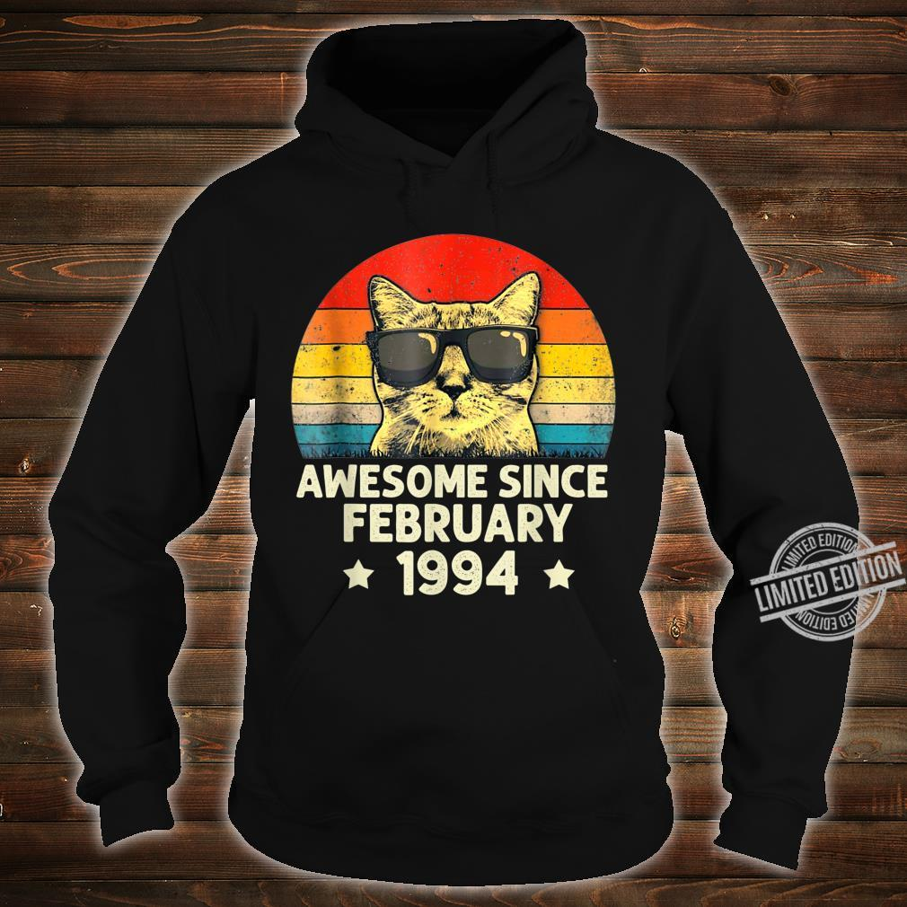 Awesome Since February 1994 26th Birthday Cat Shirt hoodie
