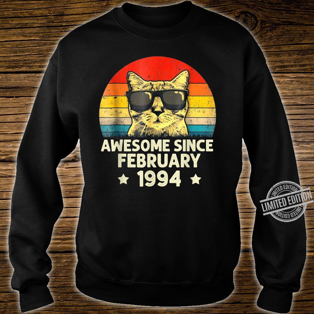 Awesome Since February 1994 26th Birthday Cat Shirt sweater