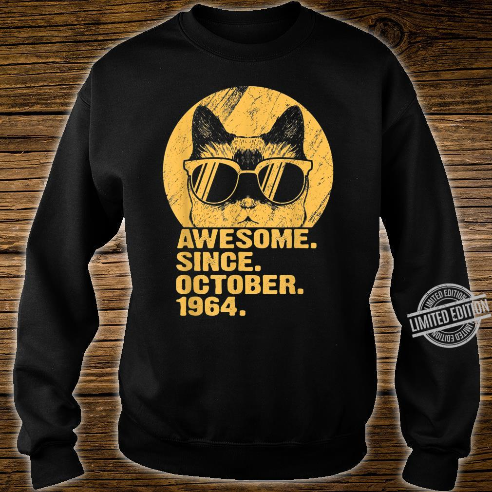 Awesome Since October 1964 55th Birthday Cat Shirt sweater