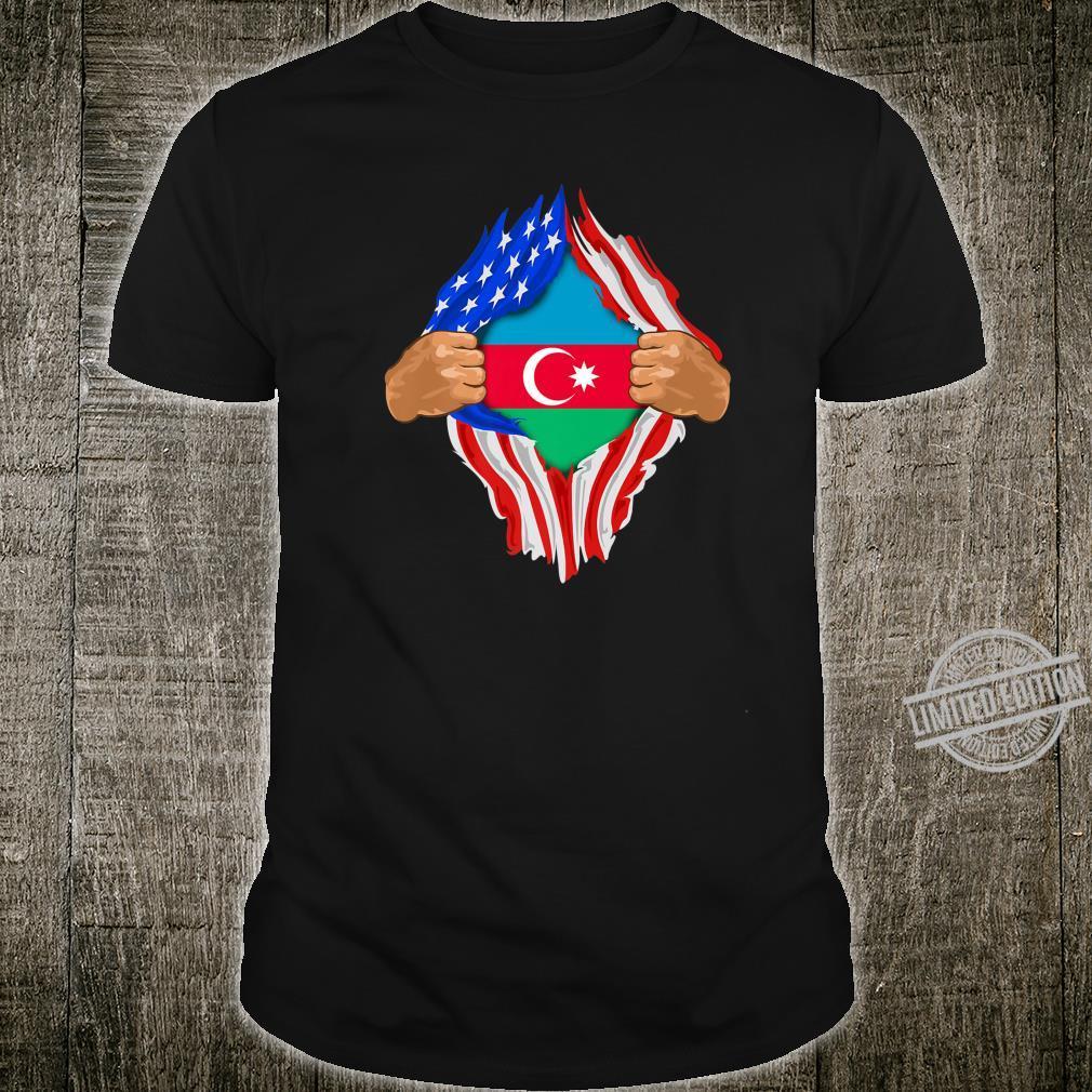 Azeri Blood Inside Me Azerbaijan Flag Shirt