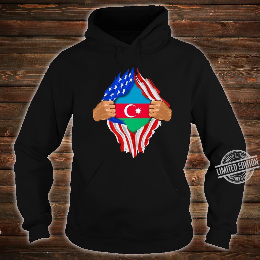 Azeri Blood Inside Me Azerbaijan Flag Shirt hoodie