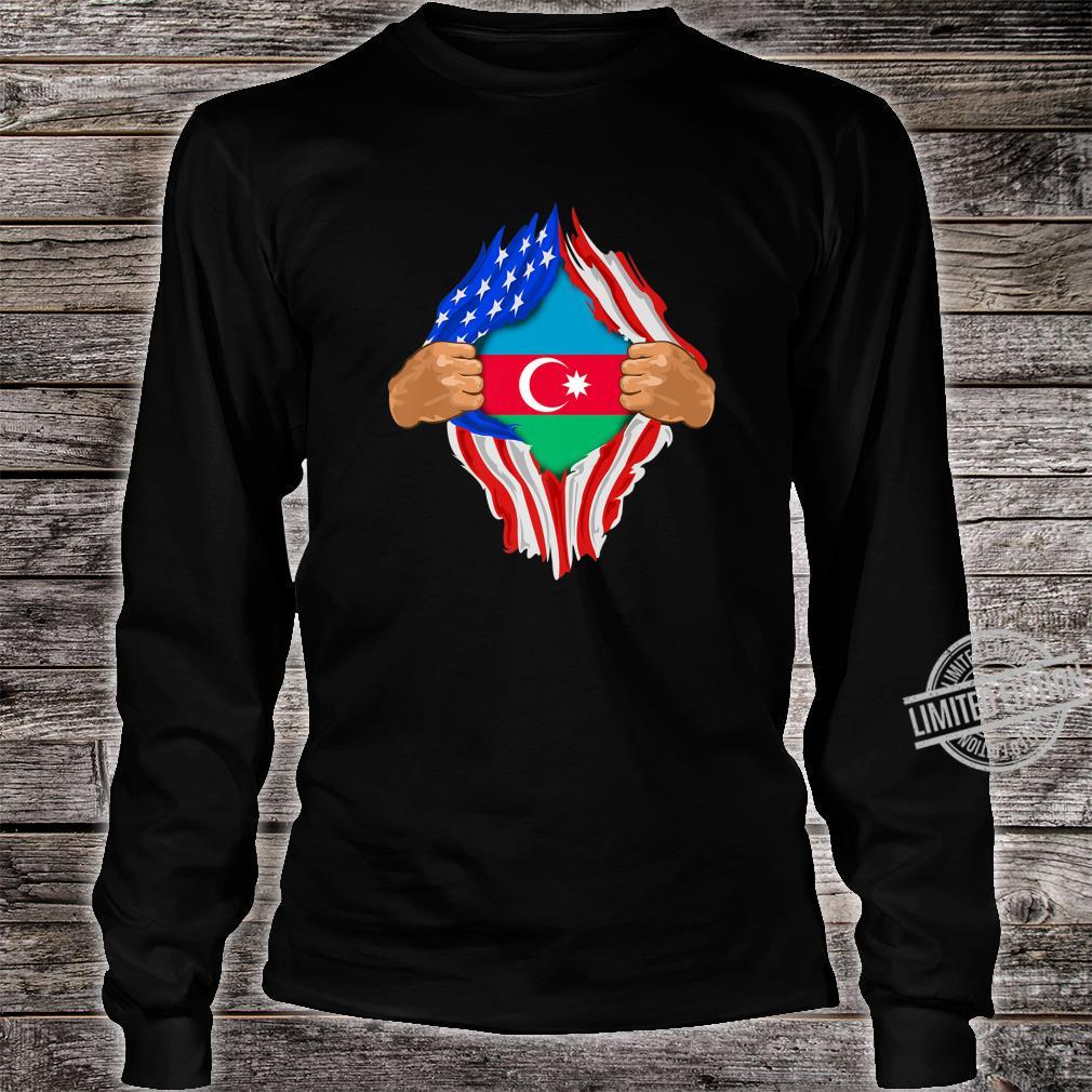 Azeri Blood Inside Me Azerbaijan Flag Shirt long sleeved