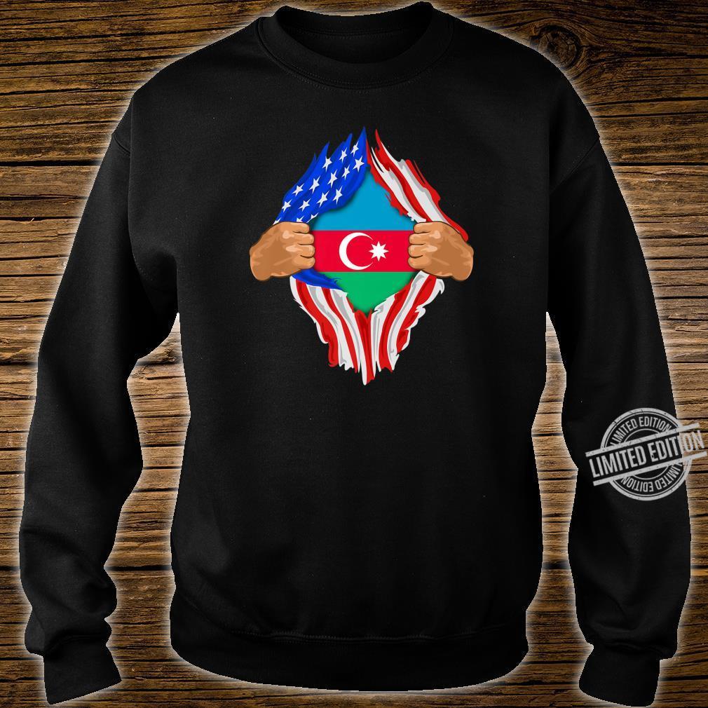 Azeri Blood Inside Me Azerbaijan Flag Shirt sweater