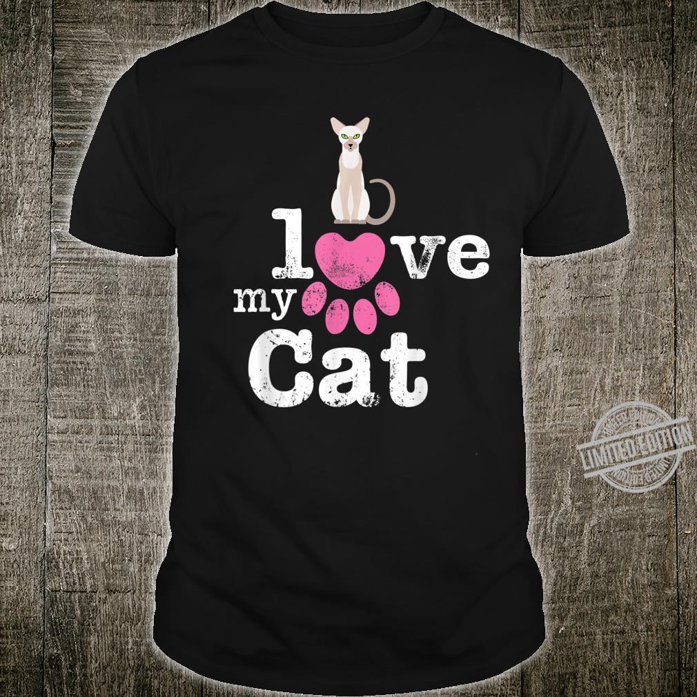 I Love My Cat Siamese Oriental Shorthair Devon Rex Cat Shirt