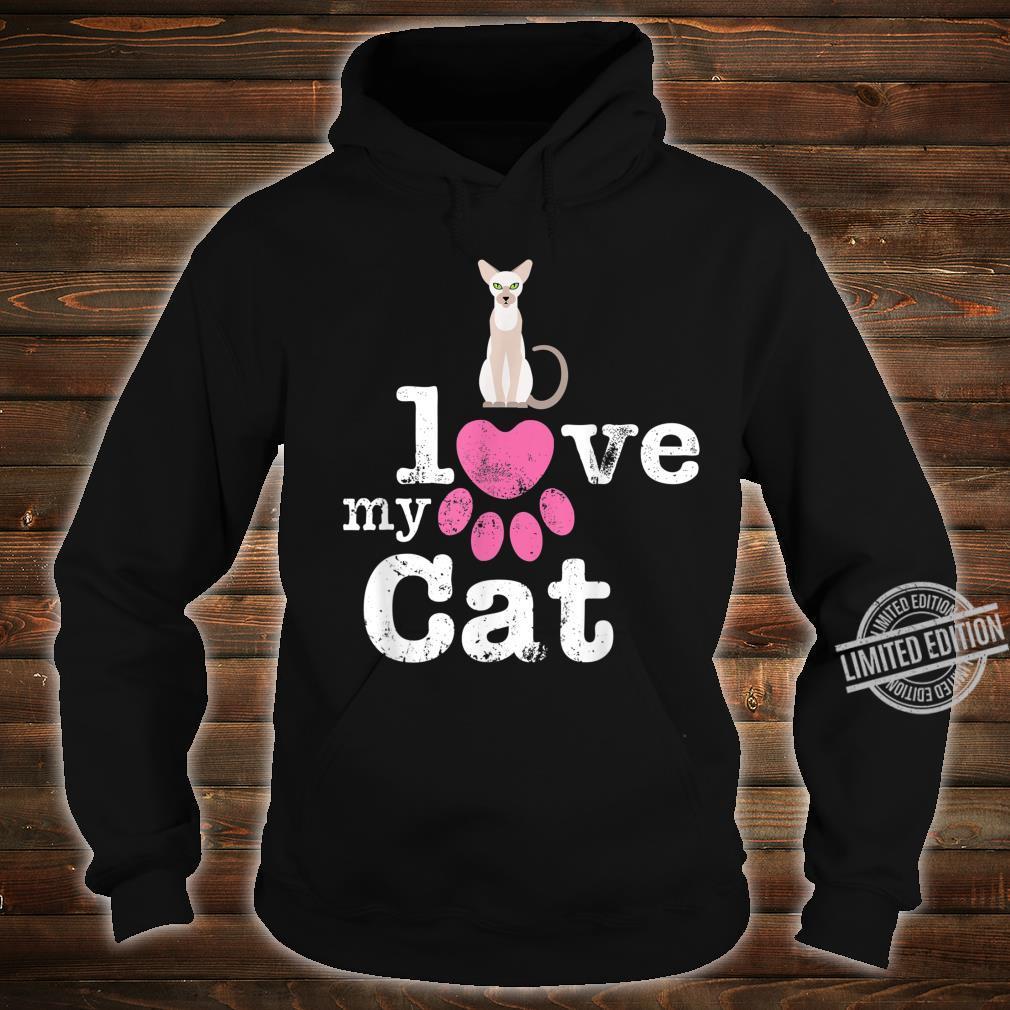 I Love My Cat Siamese Oriental Shorthair Devon Rex Cat Shirt hoodie
