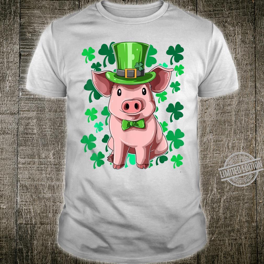 St. Patrick's Day Pig Leprechaun Lucky Irish Pig Farmers Shirt