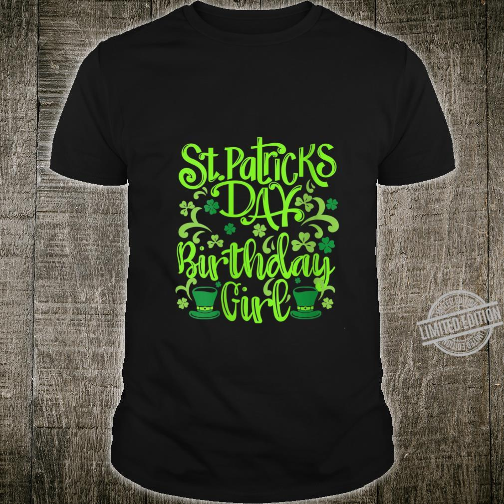 Womens Lucky Birthday For Girl St Patrick's Day Shirt