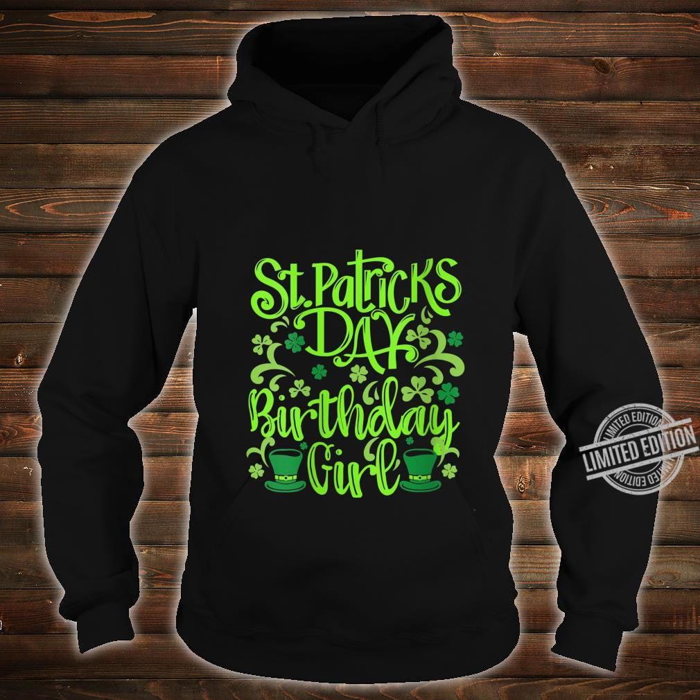 Womens Lucky Birthday For Girl St Patrick's Day Shirt hoodie