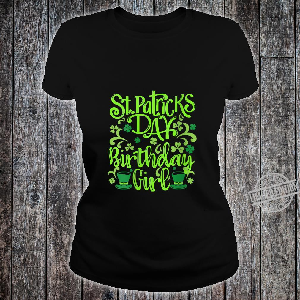 Womens Lucky Birthday For Girl St Patrick's Day Shirt ladies tee