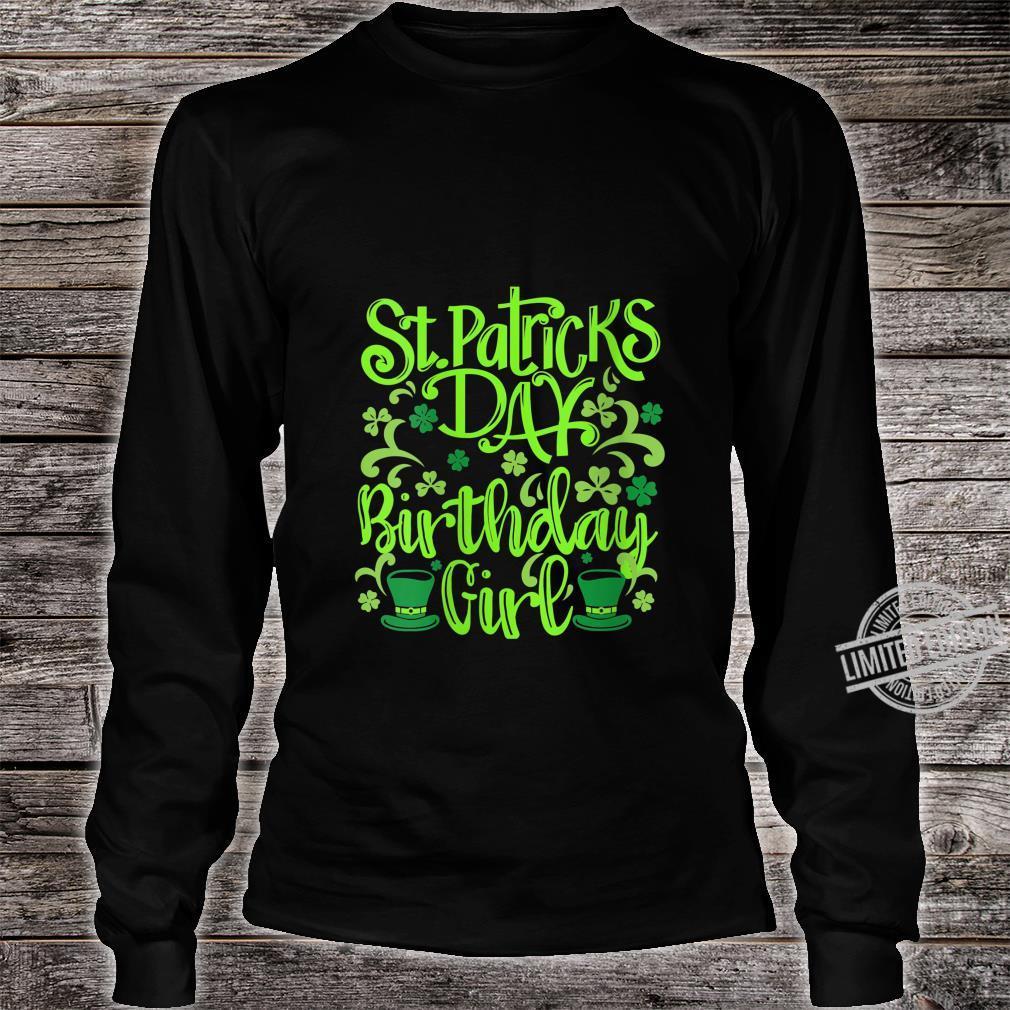 Womens Lucky Birthday For Girl St Patrick's Day Shirt long sleeved